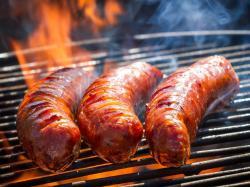 Kiełbaski z pikantną glazurą z grilla
