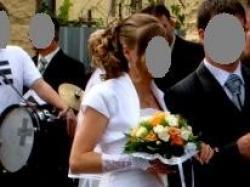 klasyczna suknia ślubna 36 biała jednoczęściowa