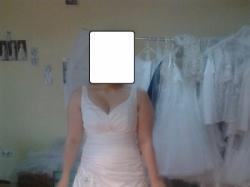Klasyczna suknia ślubna 40/42/44 + szal gratis CENA DO NEGOCJACJI
