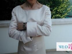 Klasyczna suknia ślubna długi rękaw łódka pronovias