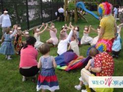 Klauny na weselu, poprawinach - animacja zabaw dla dzieci na weselu Lublin