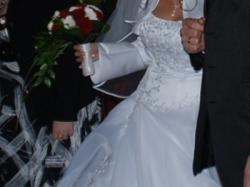 Kobieca suknia ślubna 36/38 - 800 zł do negocjacji + bolerko gratis