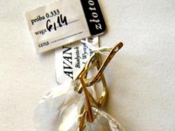 komplet biżuterii Swarovski migdał