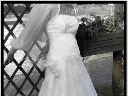koronkowa, biała suknia ślubna (MModa)