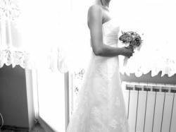 Koronkowa suknia 34-36