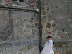 Koronkowa suknia ecru36/38