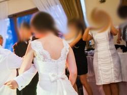 koronkowa suknia Nabla Susan z trenem bdb stan czerwiec 2013
