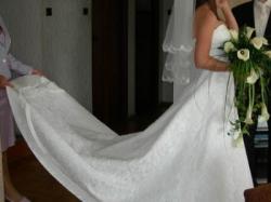 koronkowa suknia sincerity 3070 kolor  ivory, rozm.38