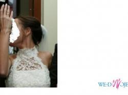 Koronkowa suknia ślubna Agnes 10225 na duży biust