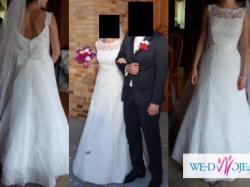 Koronkowa suknia ślubna, Agnes Bridal Dream, odkryte plecy.