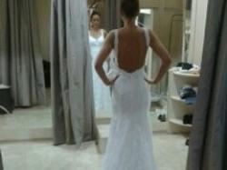 Koronkowa suknia ślubna bez pleców