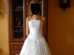 Koronkowa suknia ślubna + bolerko gratis