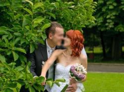 Koronkowa suknia ślubna r. 36 USA