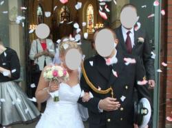 Koronkowa suknia ślubna RELEVANCE rozmiar 36-42 kolor: biel