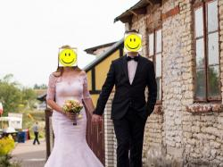 Koronkowa suknia ślubna - rybka