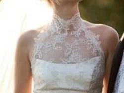 koronkowa suknia ślubna w kolorze ivory - rozm. 34