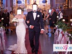 Koronkowa suknia ślubna wz.Pronovias Silaba+welon 2,5m gratis