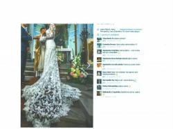 Koronkowa suknia ślubna z dłuuuuuuuuuuuugim trenem