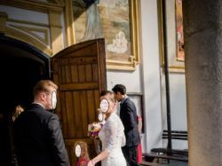 Koronkowa suknia ślubna z trenem PURE BY ELIA MORENI AM1205/ FAMOSA 1205