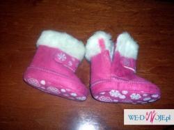 kożuszek i buciki dla dziewczynki 3-6 miesiąca