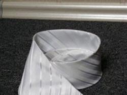 Krawat ślubny! Biały, paski.