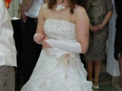 Królewska suknia+ bolerko = EKSTRA WYGLĄD