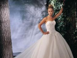 Królewska suknia ślubna Lisa Ferrera - Demetrios 2705 /TANIO SPZREDAM