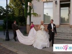 Królewska suknia ślubna - styl barokowy