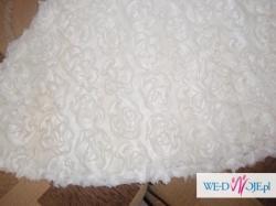 krótka, biała sukienka