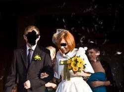 krótka sukienka ślubna + bolerko