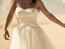 Krótka suknia ślubna lata 60. Sylwester, Karnawał? Również Idealna!