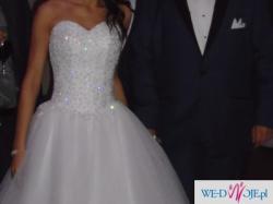 Krótka suknia ślubna piękna Princessa