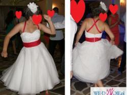 krótka suknia slubna, szałowa :)