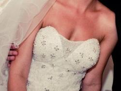 Księżniczkowa suknia ślubna, Demetrios B155 Biała!
