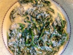 Kuchnia Anny Jurksztowicz: szpinak z gorgonzolą