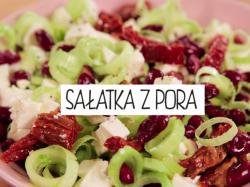 Kuchnia Gotujmy: sałatka z pora, fety i suszonych pomidorów