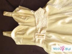 Ładna Złota Sukienka