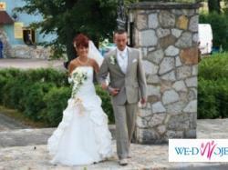 lekka suknia ślubna jednoczęściowa