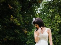Lekka suknia ślubna Nabla ecru r 36 tren