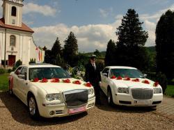 limuzyna do ślubu Chrysler 300c Mercedes S na wesele Katowic