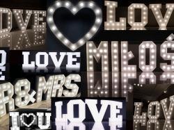 Litery LOVE z żarówkami, w stylu RETRO, najem, WYNAJEM 120 cm - LiteroweLove