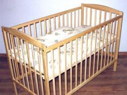 Łóżeczko drewniane sosna120x60cm