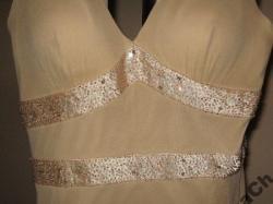 Luksusowa, piękna, jedwabna suknia amerykańskiej marki Bicici 36/38