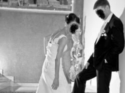 Madonna la Sposa piękna koronkowa suknia