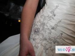 Maggie Sottero- suknia z Londynu z kryształami i trenem