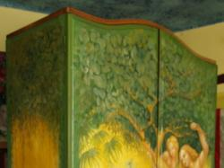 Malowana szafa, absolutny unikat. Chcesz mieć Raj w swoim domu?