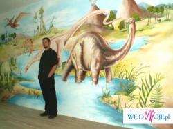 Malowidła w pokojach dziecięcych,  bajki malowane na ścianach
