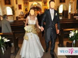 Mam do sprzedania oryginalną  dwukolorową suknie ślubną