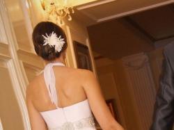 Mam do sprzedania piękną, białą, jednoczęściową suknię ślubną w rozmiarze 36/38