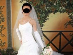 Markowa suknia ślubna za grosze+gratisy